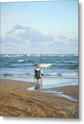 Just Relaxin And Fishin Metal Print