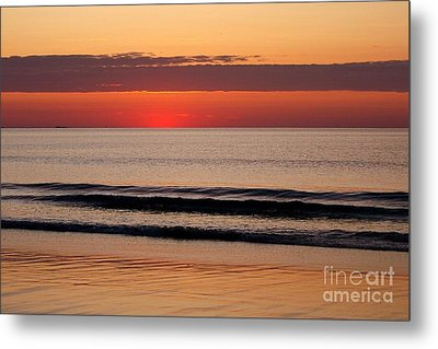 Just Showing Up Along Hampton Beach Metal Print by Eunice Miller