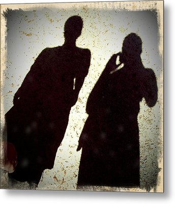 Just The Two Of Us - Shadows Of A Couple Metal Print by Matthias Hauser
