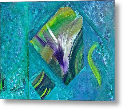 Metal Print featuring the painting Just The Two Of Us by Tracey Myers