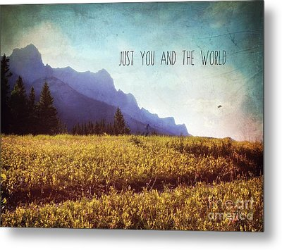 Metal Print featuring the photograph Just You And The World by Sylvia Cook