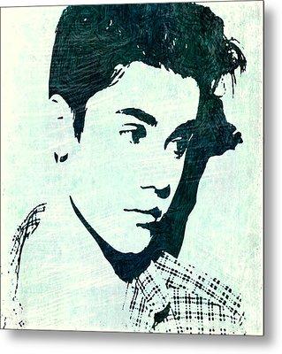 Justin Bieber In Blues Metal Print by ABA Studio Designs