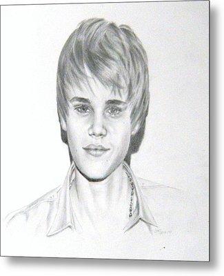 Justin Bieber Metal Print