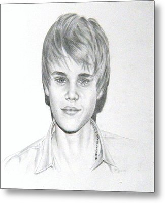 Justin Bieber Metal Print by Lori Ippolito