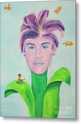 Justin Bieber Painting Metal Print