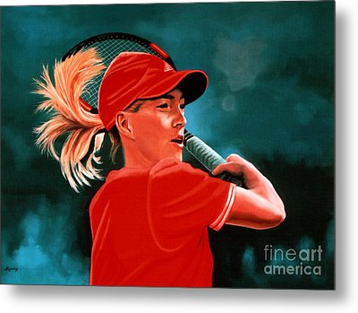 Justine Henin  Metal Print by Paul Meijering