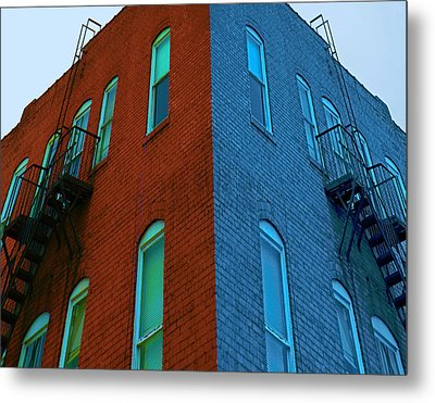Metal Print featuring the photograph Juxtaposition - Old Building by Denise Beverly