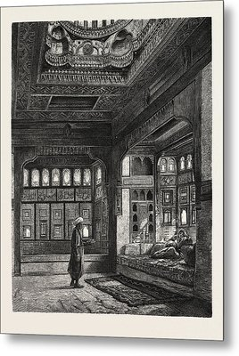 Kaah In The Harem Of Sheykh Sadat Metal Print by Litz Collection