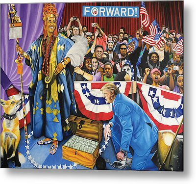 Kabiyesi Oba Obama Unquestionable King Obama Metal Print