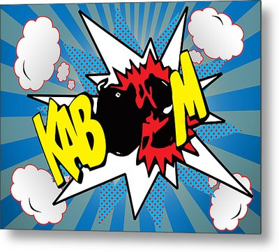 Kaboom Metal Print by Mark Ashkenazi