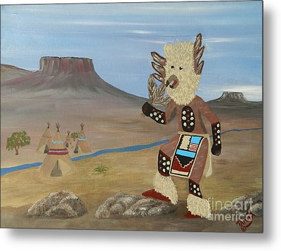 Kachina Owl Dancer Metal Print