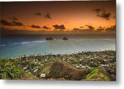 Kailua Bay Sunrise Metal Print by Tin Lung Chao