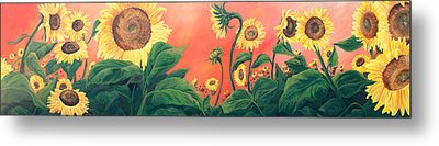 Kait's Sunflowers Metal Print by Jessica Tookey