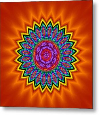 Kaleidoscope 1 Bright And Breezy Metal Print by Faye Symons