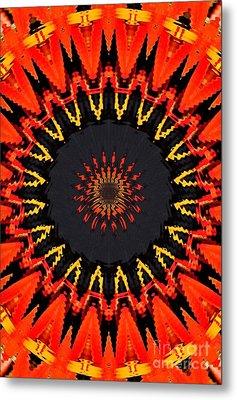 Kaleidoscope Aztec Metal Print