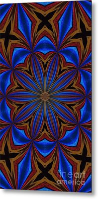 Kaleidoscope Feathers Four Metal Print