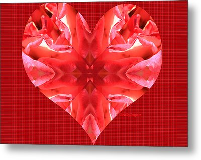 Kaleidoscope Heart Metal Print