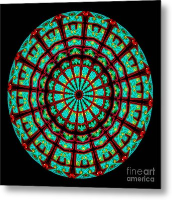 Kaleidoscope Of A Neon Sign Metal Print by Amy Cicconi
