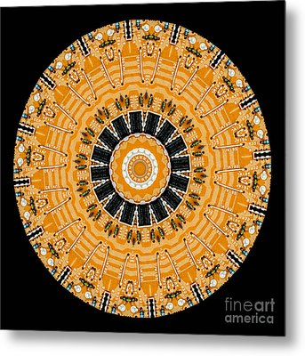 Kaleidoscope Of Computer Circuit Board Metal Print by Amy Cicconi