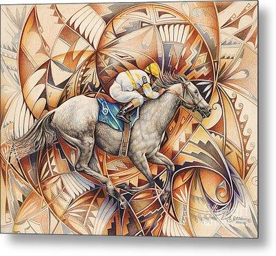 Kaleidoscope Rider Metal Print by Ricardo Chavez-Mendez