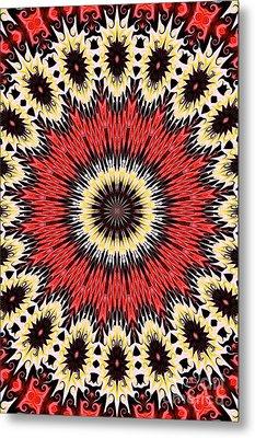 Kaleidoscope Torch Metal Print