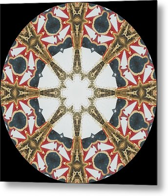 Kaleidoscope Wheel Metal Print by Cathy Lindsey