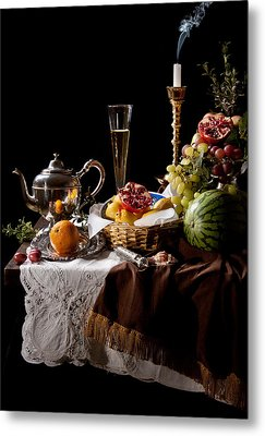Metal Print featuring the photograph Kalf - Banquet With Fruits by Levin Rodriguez