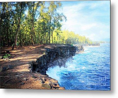 Kaloli Point Hawaii Metal Print by Ellen Cotton