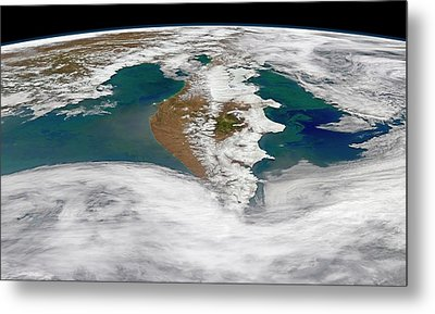 Kamchatka Peninsula Phytoplankton Bloom Metal Print by Norman Kuring, Nasa Ocean Color Group