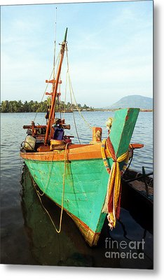 Kampot Boat 06 Metal Print by Rick Piper Photography