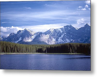 Metal Print featuring the photograph Kananaskis Mountains Lake by Jim Sauchyn