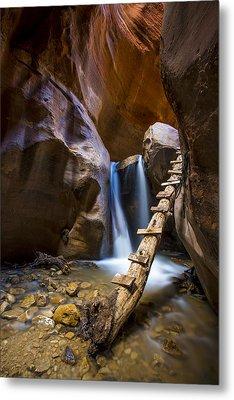 Kanarra Creek Slot Canyon Metal Print by Dave Cleaveland