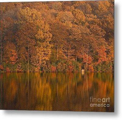 Kanawauke Lake Sundown Metal Print by Susan Candelario