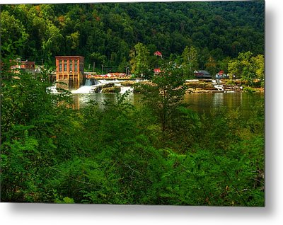 Metal Print featuring the photograph Kanawha Falls by Dave Files