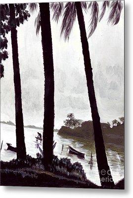 Kaneohe Bay From Bus Stop Metal Print by Mukta Gupta