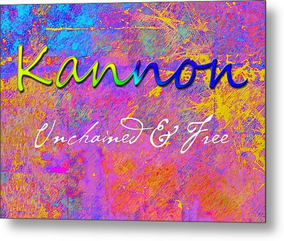 Kannon - Unchained And Free Metal Print by Christopher Gaston
