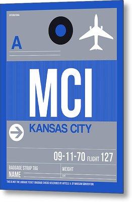 Kansas City Airport Poster 2 Metal Print