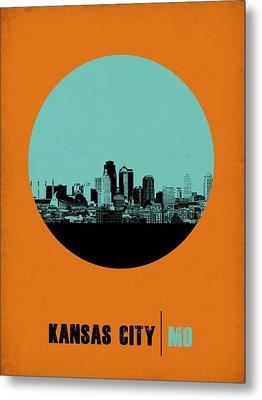 Kansas City Circle Poster 1 Metal Print by Naxart Studio