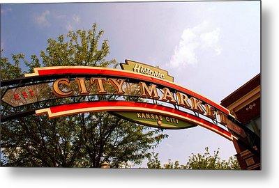 Kansas City Historic City Market Est 1857 Metal Print