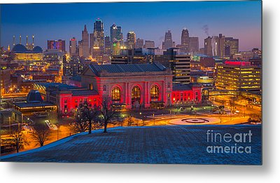 Kansas City Skyline Metal Print by Inge Johnsson
