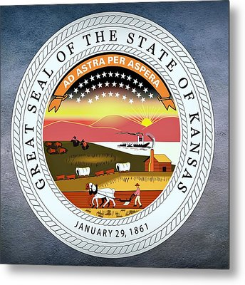 Kansas State Seal Metal Print by Movie Poster Prints