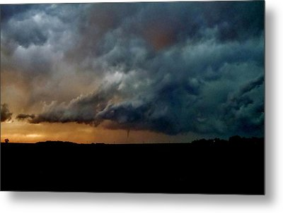 Metal Print featuring the photograph Kansas Tornado At Sunset by Ed Sweeney