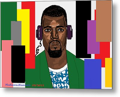Kanye West- Music Not Skin Colours Metal Print