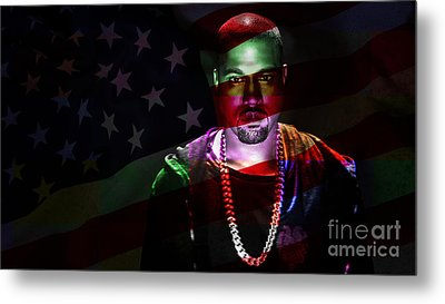 Kanye West Metal Print by Marvin Blaine