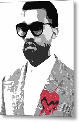 Kanye West Metal Print by Mike Maher