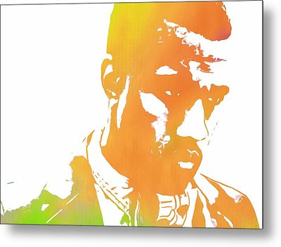 Kanye West Pop Art Metal Print by Dan Sproul