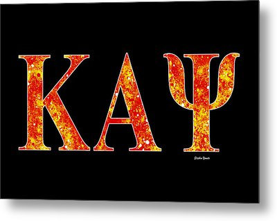 Kappa Alpha Psi - Black Metal Print by Stephen Younts