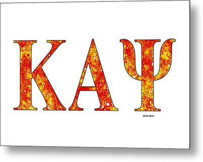 Kappa Alpha Psi - White Metal Print by Stephen Younts