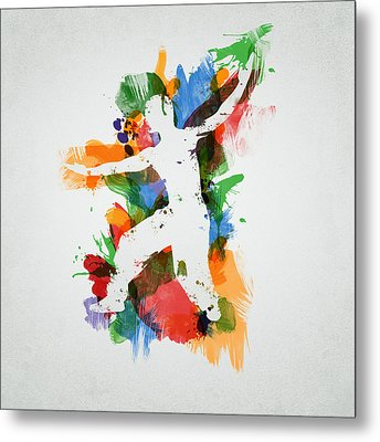 Karate Fighter Metal Print by Aged Pixel