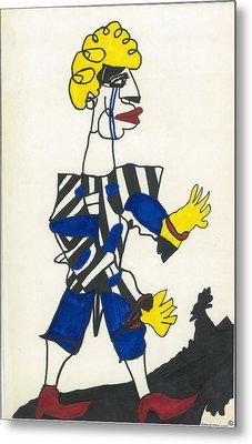 Karate Klown Metal Print by Don Koester